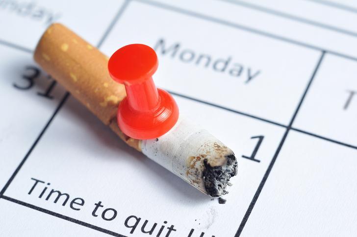 Nooit meer gerookt