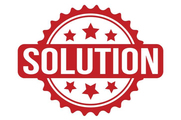 De oplossing
