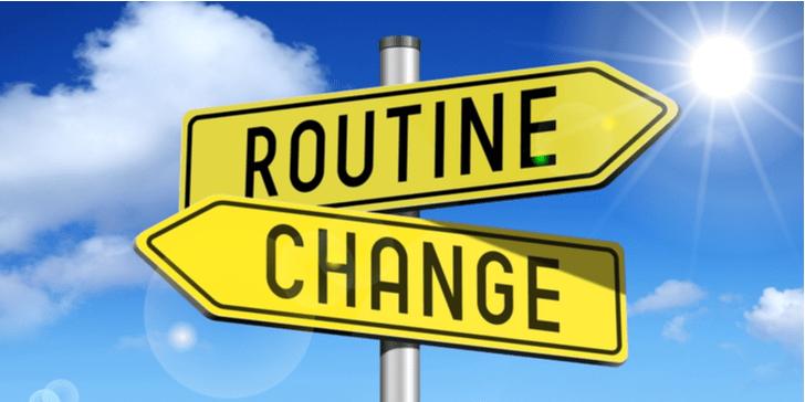 Welke routines heb ik veranderd?