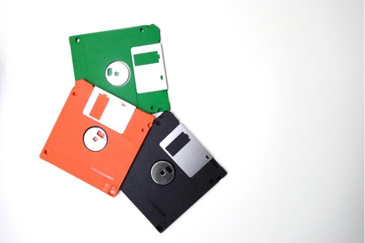 Een ouderwetse floppy